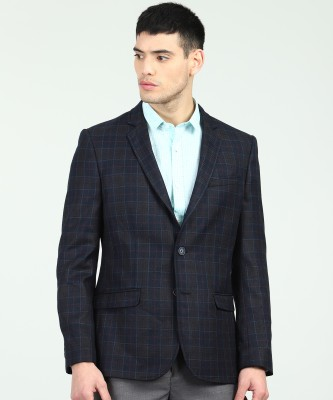 Arrow Checkered Single Breasted Casual Men