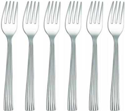 Shri   Sam Shaffield 6 Pieces Stainless Steel Dessert Fork Set Pack of 6 Shri   Sam Forks
