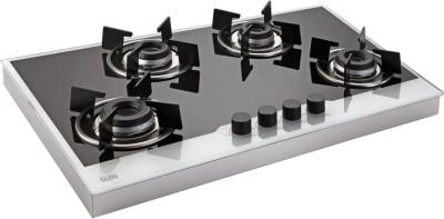 GLEN 4 Burner Built in Glass Hob gas Glass Automatic Hob(4 Burners)