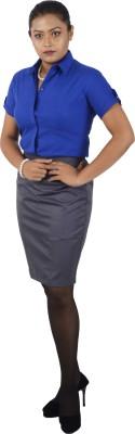 Van Heusen Women Solid Formal Blue Shirt