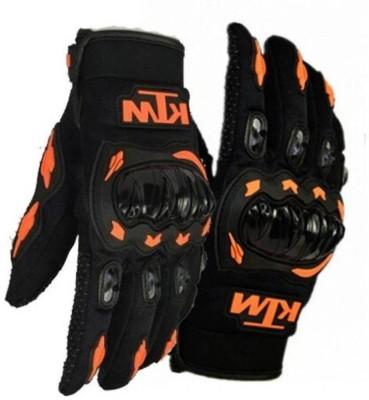 KTM Full Black-orange M Riding Gloves(Black)