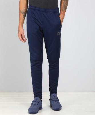 REEBOK Solid Men Dark Blue Track Pants