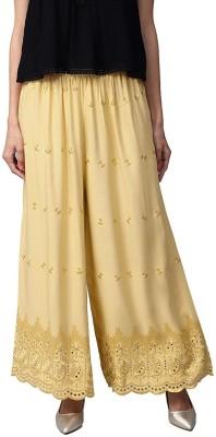 SriSaras Flared Women Beige Trousers