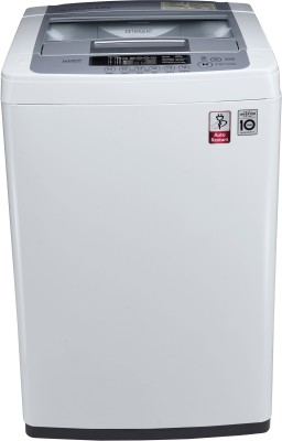 LG 6.2 kg Inverter Fully Automatic Top Load Washing Machine Silver, White T7269NDDL