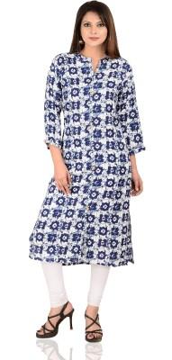 Fab Attire Casual Printed Women Kurti(Blue)