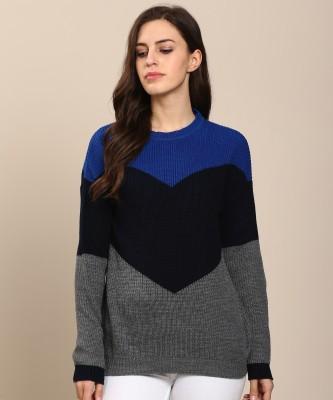 Metronaut Embellished Turtle Neck Casual Women Multicolor Sweater