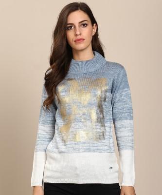 Metronaut Self Design Round Neck Casual Women Multicolor Sweater