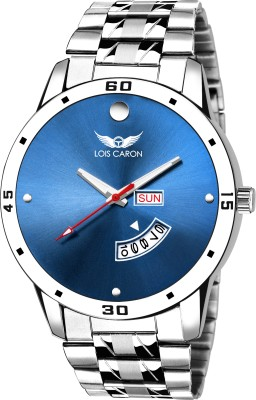 151e920a6 Lois Caron LCS-8100 BLUE DIAL DAY   DATE FUNCTIONING Analog Watch - For Men