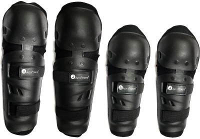 AutoPowerz Knee and Elbow Guard Knee Guard, Elbow Guard, Shin Guard XL Black(Pack of 4)
