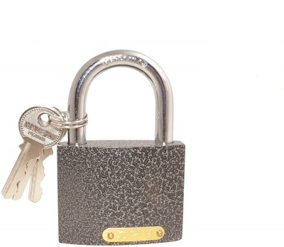 tuffstuff Steel Padlock and Chain Fully Galvanized Lock Safety Lock(Black, Silver)