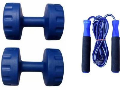 StepInnStore 5*KG EACH (PACK OF 2*PCS PVC DUMBELLS) WITH SKIPPING ROPE Gym & Fitness Kit