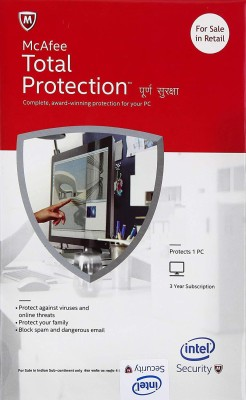 McAfee Total Security 1.0 User 3 Years(Voucher)