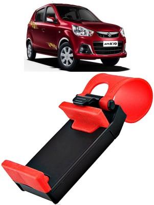 AutoKraftZ Car Mobile Holder for Steering(Black, Red)