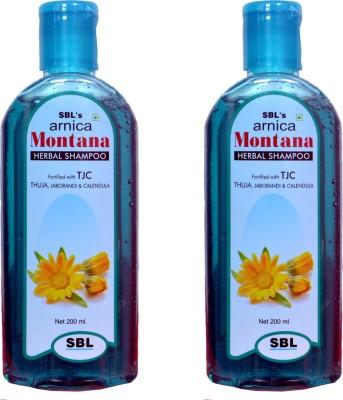 SBL ARNICA MONTANA HERBAL SHAMPOO WITH THUJA,JABORANDI & CALENDULA(PACK OF TWO)(400 ml)