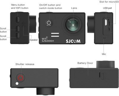SJCAM SJ5000 X ELITE Adjustable Viewing Angle: 170° 140° 110° & 70° Sports & Action Camera(Black) 1