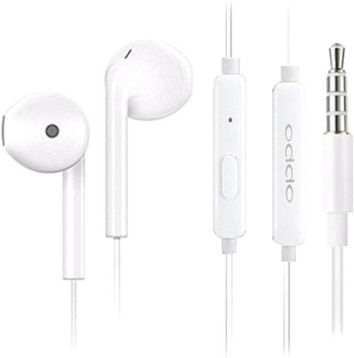 OPPO Earphone Wired Headset(White, Wired in the ear)