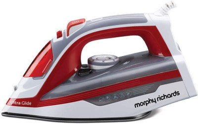 Morphy Richards Ultra Glide 1600-Watt Steam Iron 1600 Steam Iron(White/Red)
