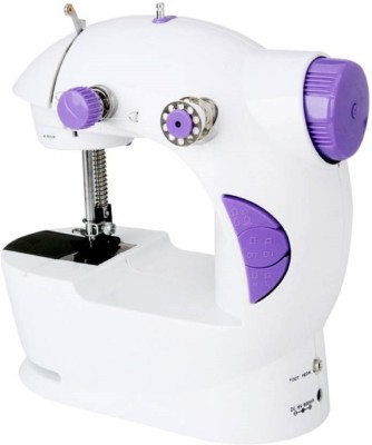 QUALIMATE Portable & Compact With Accessories Mini Electric Sewing Machine Electric Sewing Machine( Built-in Stitches 12)