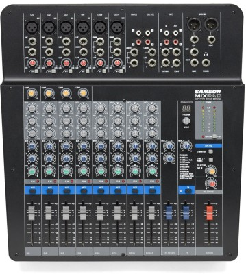Samson MXP-144FX 14-Input Analog Stereo Mixer with Effects and USB Analog Sound Mixer