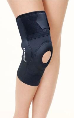 Samson Knee Cap Hinged with Open Patella Gel Pad(KOTEX)(2XL,Black) Knee Support(Black)