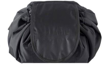 Xeekart Lazy Cosmetic Bag Drawstring Travel Makeup Bag Pouch Multifunction Storage Portable Toiletry Bags Travel Toiletry Kit Travel Toiletry Kit(Black)