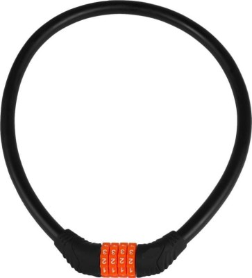 Gadget Deals Steel Cable Multipurpose Resettable 4 Digits (Set any number pattern any number of times) Bicycle Number Lock for Bicycles, Bikes, Helmet, Luggage Cable Lock(Multicolor)