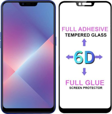 Express Buy Edge To Edge Tempered Glass for Nokia 6.1 Plus/ Nokia X6 (6D Tempered Glass)(Full Glue Glass)(Pack of 1)