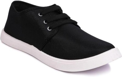 Airland Sneakers Shoes For Men Black Sneakers For Men(Black)