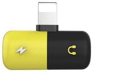 Czech Multicolor Latest 2 n 1 Lightning Spliter Phone Converter(Android, iOS)