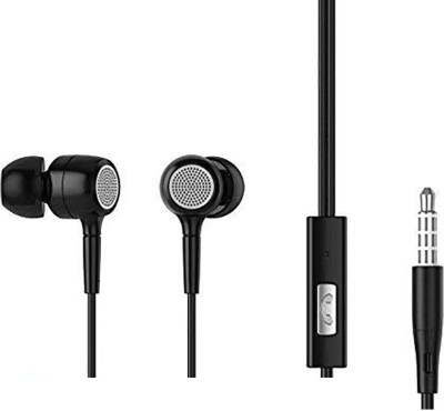 Philips E1515B94 Wired Headset with Mic(Black, In the Ear)