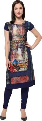 REI Casual Self Design Women Kurti(Multicolor)