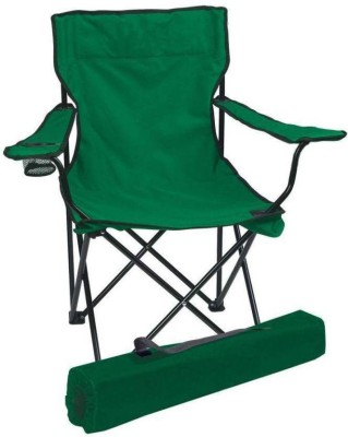 Pithadai Camping Picnic Garden Party BBQ Dining Coffee Kitchen Fordable For Fishing Fabric Metal Outdoor Chair(Finish Color - Green)
