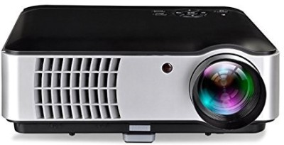 Boss S8A 5500 Lumens Android WIFI LED HD Portable Projector(Black)