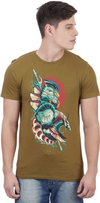 Aquaman By Free Authority Graphic Print Men Round Neck Green T-Shirt