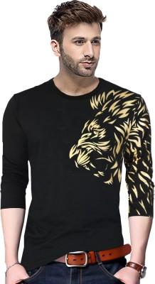 Tripr Graphic Print Men Round Neck Black T-Shirt