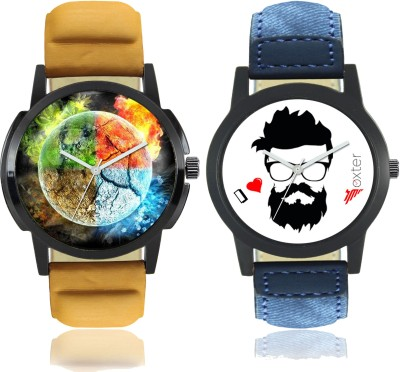 "Talgo ""4 Elements of Earth"" Printed and ""Beard"" Printed Analog Dial New Trending Combo of 2 Watch Talgo 2017 New Special (Combo) Collection Of 4 Elements of Earth Printed And Beard Printed On Round Shaped Black Dial Analogue Stylish Looked Leather Strap Trendy And New Special Production First Time E"