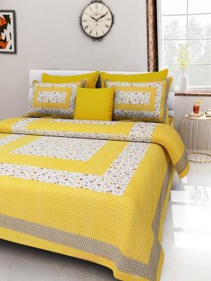 Jaipur Fab 300 TC Cotton Double Paisley Bedsheet(Pack of 1, Multicolor) at flipkart