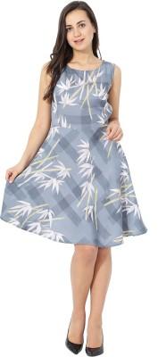 Fashion Ritmo Women Drop Waist Grey Dress