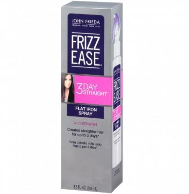 John Frieda Frizz Ease 3 Day Straight Flat Iron Spray with Keratin Hair Cream(103 ml)