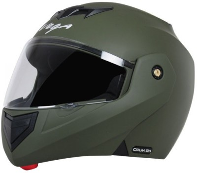 VEGA Crux DX Motorbike Helmet(Dull Battle Green)