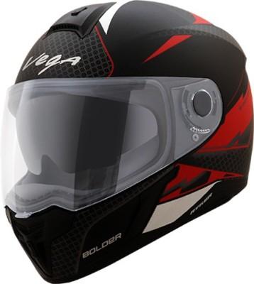 VEGA Ryker D/V Bolder Motorbike Helmet(Dull Black Red)