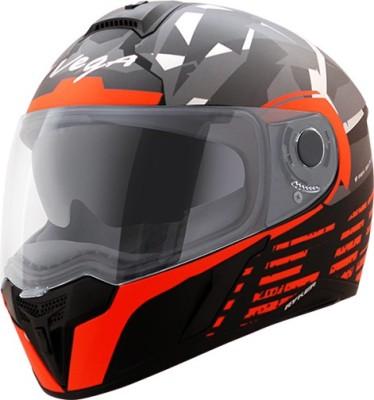 VEGA Ryker D/V Camo Motorbike Helmet(Dull Black Orange)