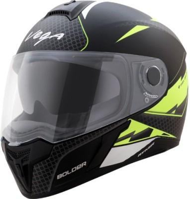 VEGA Ryker D/V Bolder Motorbike Helmet(Dull Black Neon Yellow)
