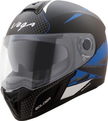 VEGA Ryker D/V Bolder Motorbike Helmet(Dull Black M.Blue)