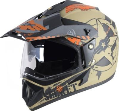 VEGA Off Road D/V Secret Motorbike Helmet(Dull Anthracite Black)