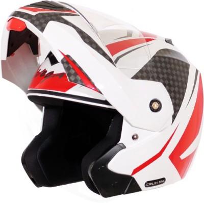 VEGA CRX-DX-CHK-WR Motorbike Helmet(Red, White)