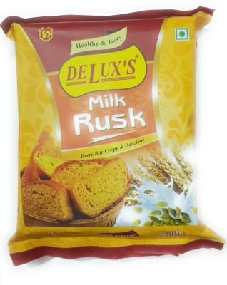 New delux sweets MILK RUSK 150gm (Pack of 4) milky flavored Milk Rusk(4 x 0.04 g)