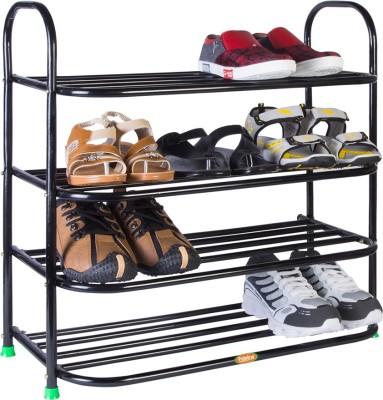 Patelraj Heavy Metal Shoe Stand(Black, 4 Shelves)