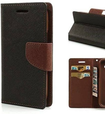 HKSIND Flip Cover for Micromax Yu Yuphoria AQ 5010 Brown, Holster