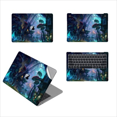GADGETS WRAP GW-52231 Mashroom city Printed Top, Bottom & Inside Skin for 13 inch Air Vinyl Laptop Decal 13